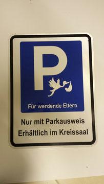 Parkplatzschild reflektierend nach Kundenwunsch