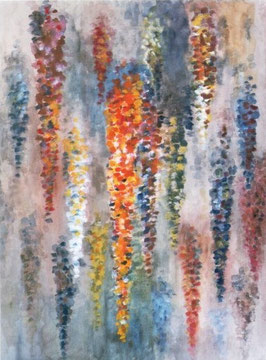 BLÜTENREGEN 1963, Tempera, 46 x 61 cm