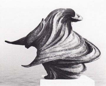 WINDSBRAUT (II) 1979, Bronze, Höhe 29 cm