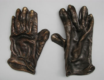 Workhands, cast bronze, ladies size small