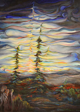Midnight sun 24x30 oil