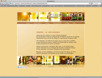 Erstellung, Pflege, Wartung der Internetpräsenz für eine Gastronomie