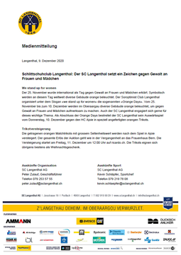 SCL Medienmitteilung 09.12.2020