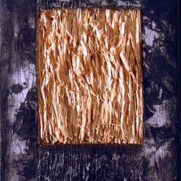 Holz, Axryl, Tusche, Wachs, 30x25cm