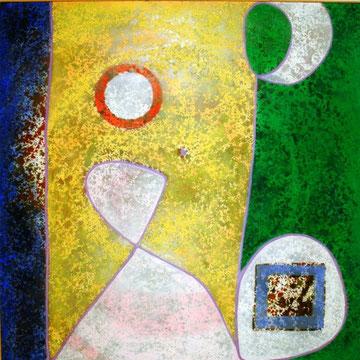 sarang, Acryl auf Leinwand, 130x130cm