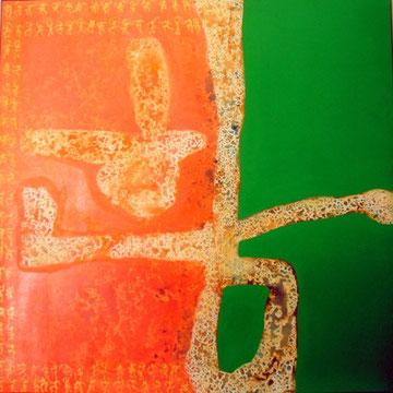 hananim, Acryl auf Leinwand, 130x130cm