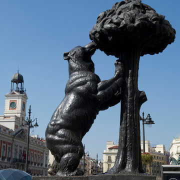 Statue of the Bear and the Strawberry Tree (1967) by Antonio Navarro Santafe Madrid Spain