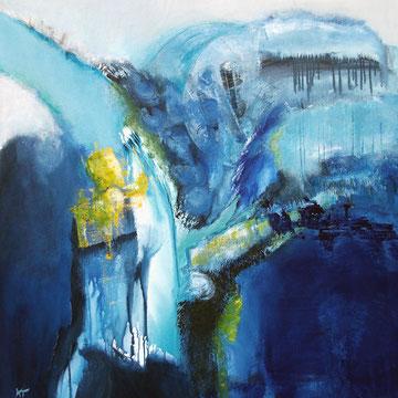 Blue Flow 90 x 90 cm