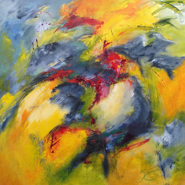 Expecting to fly 100 x 100 cm