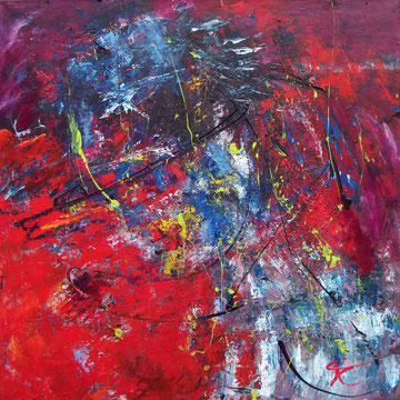 What's on your mind 100 x 100 cm verkocht