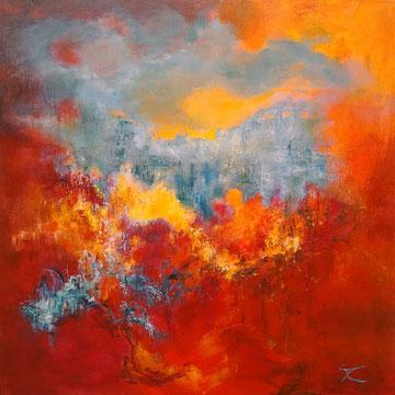 Red Valley 100 x 100 cm, verkocht