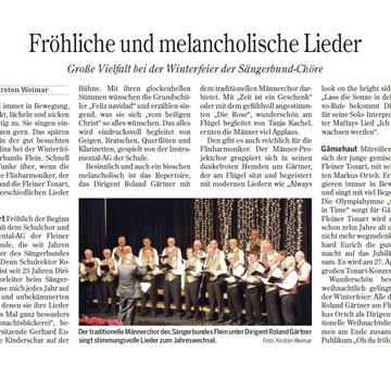 aus der Heilbronner Stimme vom 18.12.2012