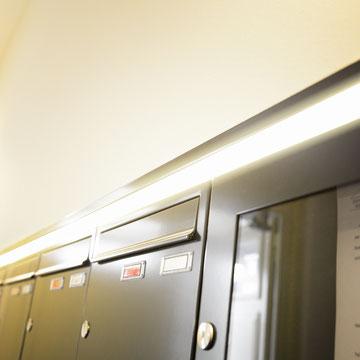 Unterputz- Briefkastenanlagen Stahlblech, LED-Beleuchtung