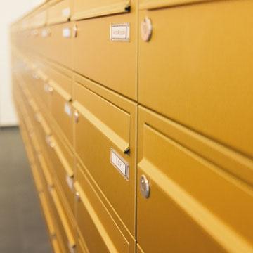 Aufputz- Briefkastenanlagen Aluminium ELOXAL