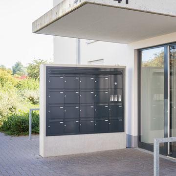 Unterputz-Briefkastenanlagen, verzinktes Stahlblech, pulverlackiert