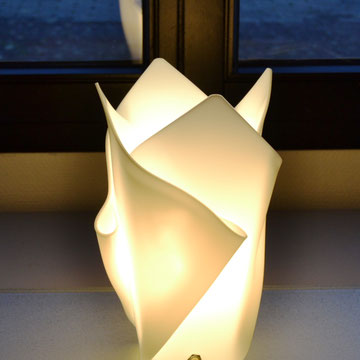 Lampe in weis