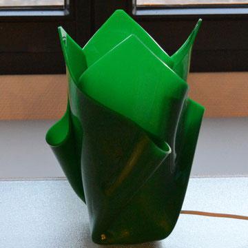 Lampe in grün