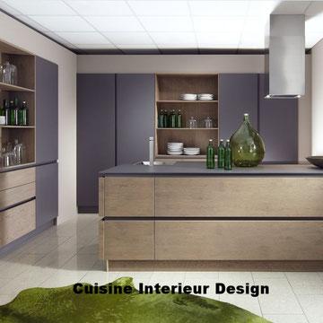 cuisine design en laque avec ilot casserolier 1.8 m schroder Toulouse