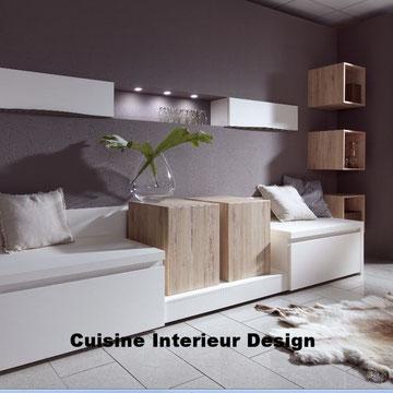 cuisine design esprit cosy aménagement annexe de détente