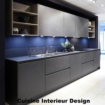 cuisine intérieur design création toulouse moderne cuisine design ciment gris foncé schroder Kuchen
