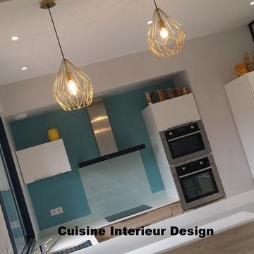 cuisine intérieur design création toulouse moderne cuisine design contemporaine bois laque mate verrière