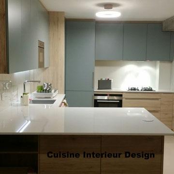 cuisine intérieur design création toulouse moderne cuisine design contemporaine ilot plan pierre en silestone