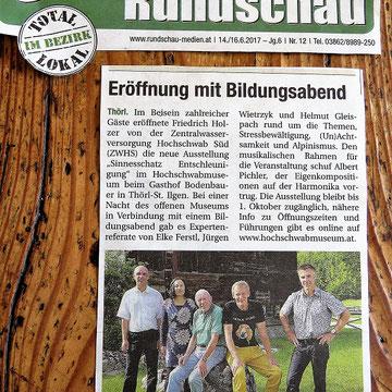 Artikel Obersteirische Rundschau, Juni 2017