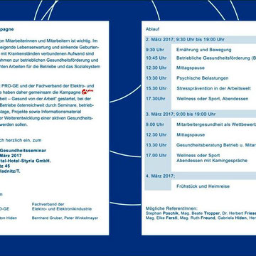 """Ankündigung Keynote-Vortrag """"Stressprävention am Arbeitsplatz"""" Pro Gesundheit Teichalm"""