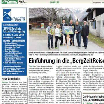 Artikel Obersteirische Rundschau, Markus Waßhuber, 2017