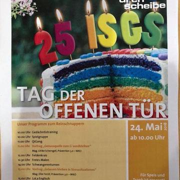 Ankündigung ISGS Kapfenberg Jubiläum, Fachvortrag Roadshow Prävention 3.0