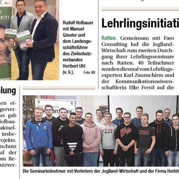 Artikel Obersteirische Rundschau April 2018