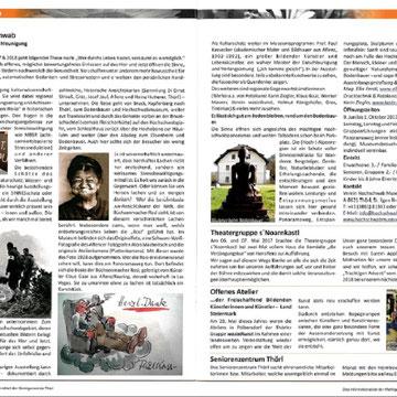 Artikel Thörler Gemeindenachrichten, Juli 2017