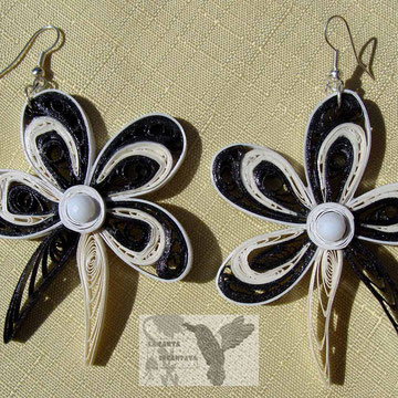 orecchini, earrings orchidea bn1