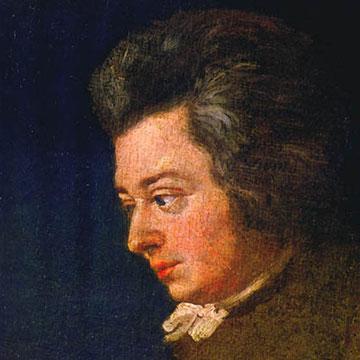 Retrato inacabado de Mozart por su cuñado Joseph Lange.