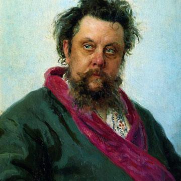 Modest Petróvich Músorsky 1839-1881 - Retrato de Iliá Repin (1881)