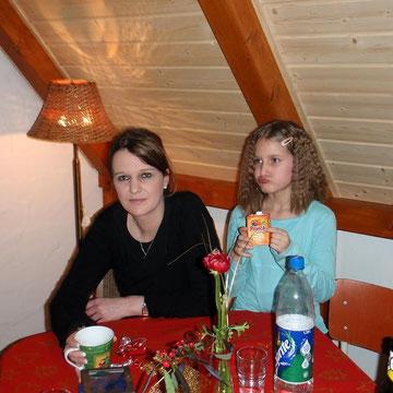 Mama und Tochter Weihnachten 2008
