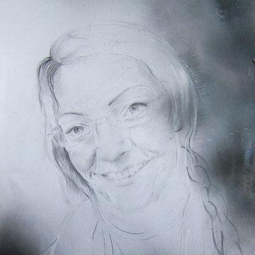 Frau, Pastell, 29,7  x 42 cm