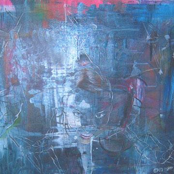 Meli, Acryl und Lack auf Leinen, 70 x 50 cm