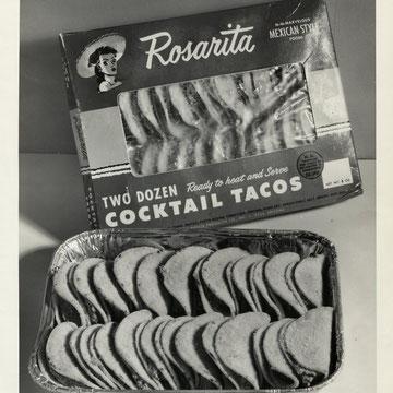 "refG12 - 20,5x25,5cm -""Coktail tacos rosarita"" - dos vierge- circa 50's/60's - 4/5"