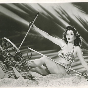 "refG217 - 20,5x25,5cm  - ""Pin-up, Jane ADAMS ""  circa 1950 - 4/5"