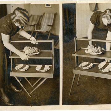 "refG208 - 18x24cm  - ""design""  - Presse: tampon wide world photo new york times berlin et légendes au dos - circa 1950 - 4/5"