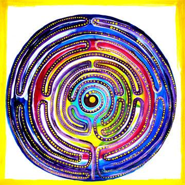 Regenbogenlabyrinth 80cmx80cm