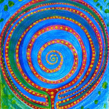 Labyrinth-Baum 50cmx50cm