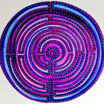 Lila-Labyrinth 150cmx150cm