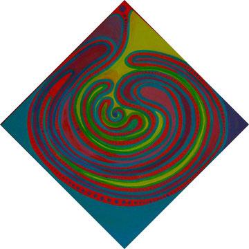 Kalebassen-Labyrinth 58cmx58cm