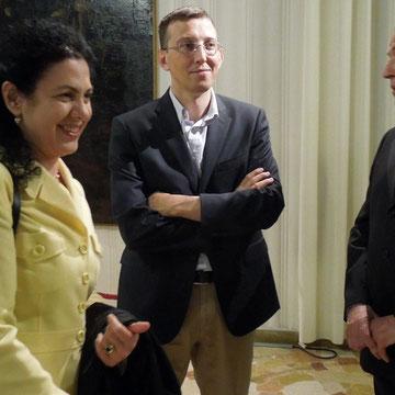 Lo Storico Lorenzo Baratter con la Presidente Associazione Culturale Storia Viva, no profit, e il Professore dell'Università di Verona Francesco Vecchiato