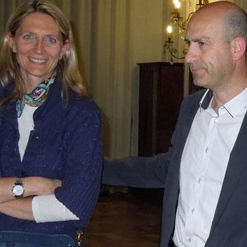 L'Assessore alla Cultura del Comune di Bardolino Marta Ferrari e il Giornalista Stefano Ioppi