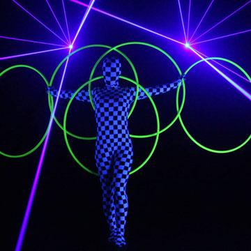Lasershow in Parchim - Fantômes de Flammes