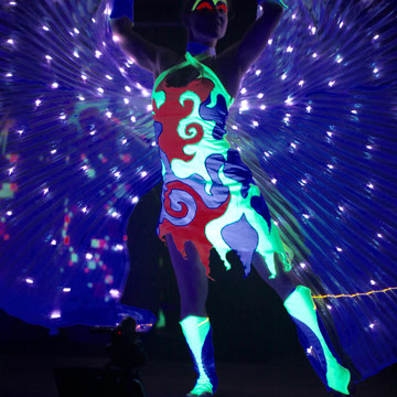 Lasershow in Mannheim - Fantômes de Flammes
