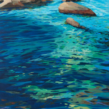 The water´s skin. (Siros). Acrylic on canvas.  50 x 114cm.*
